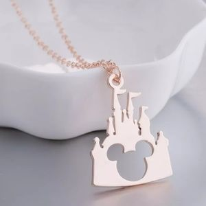 Rose Gold Mickey Mouse Necklace